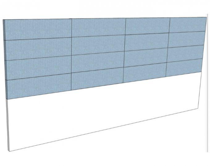 Изголовье для двухспальной кровати  2770*1200мм с мягким элементом  (Барселона)