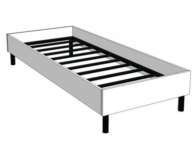 Кровать односпальная с ортопедическим основанием 832х2032х355 без матраса (спальное место 800х2000) (Барселона)