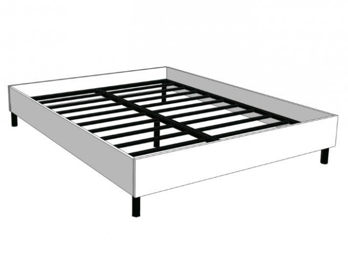 Кровать двухспальная с ортопедическим основанием 1632х2032х355 без матраса (спальное место 1600х2000) (Барселона)
