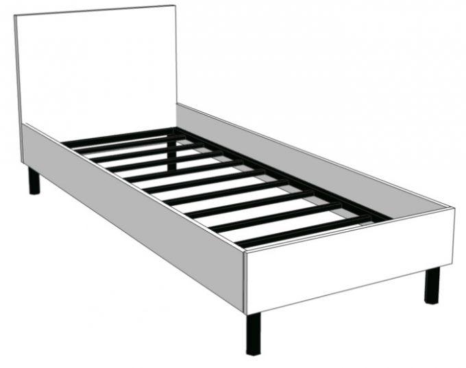 Кровать односпальная со спинкой