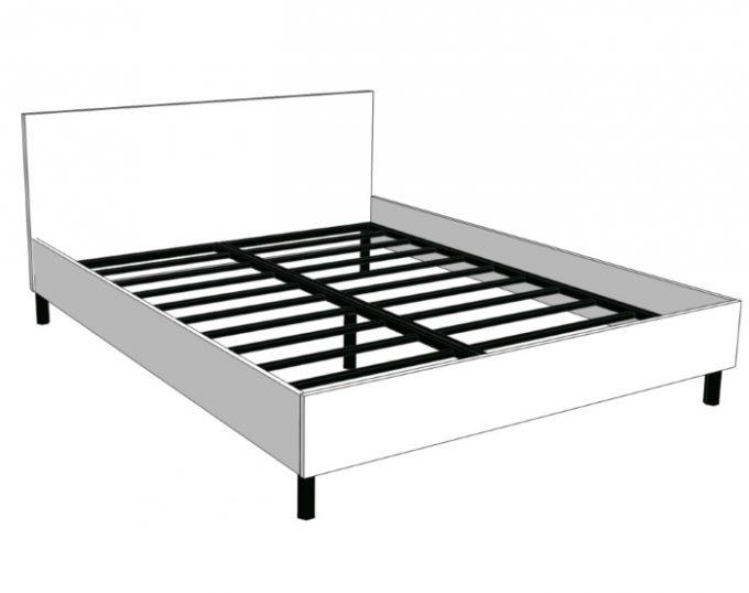 Кровать двухспальная со спинкой