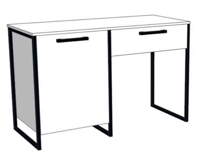 Стол с одной тумбой (с ящиком и нишей под холодильник) 1200х520х750 (Барселона)
