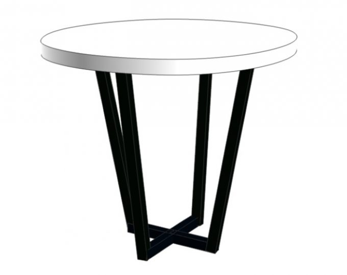 Стол журнальный круглый D=600х520 на металлическом основании (Барселона)