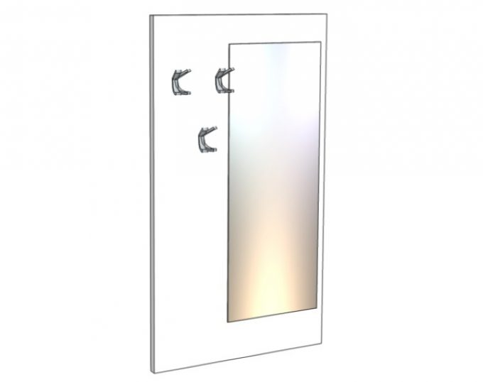 Вешалка настенная с зеркалом 800 х 1400 мм (Барселона)