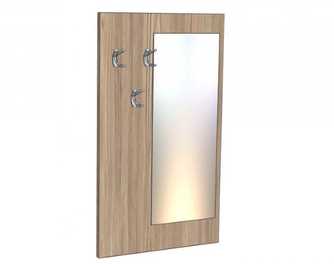 Вешалка настенная с зеркалом 800х1400мм (Флоренция)