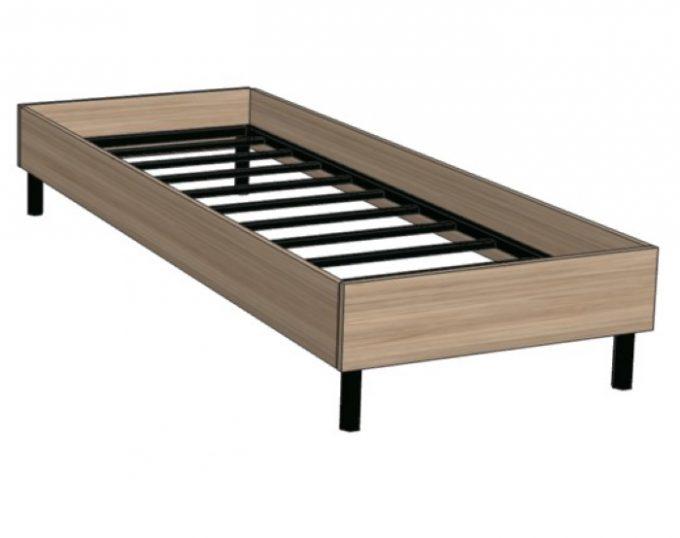 Кровать односпальная с ортопедическим основанием 832х2032х355 без матраса (спальное место 800х2000) (Флоренция)