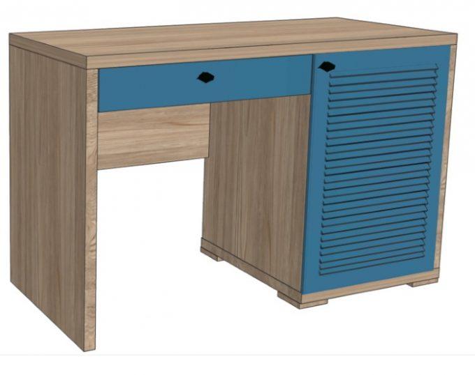 Стол с одной тумбой (с ящиком и нишей под холодильник) 1200х520х750 (Флоренция)