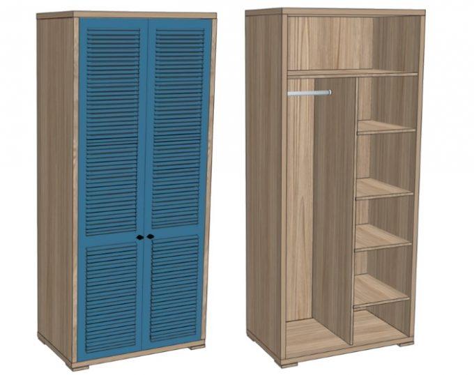Шкаф комбинированный для одежды 900х520х2000 (Флоренция)