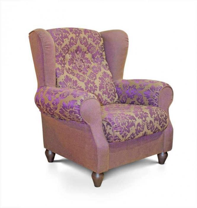 Кресло Лорд в ткани или коже