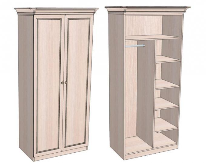 Шкаф комбинированный для одежды 900х520х2000 (София)