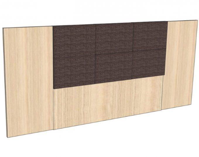 Изголовье для двухспальной кровати 2770*1200мм с мягким элементом (Токио)