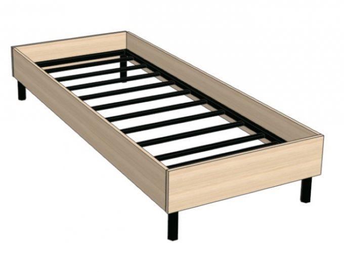 Кровать односпальная с ортопедическим основанием 832х2032х355 без матраса (спальное место 800х2000) (Токио)