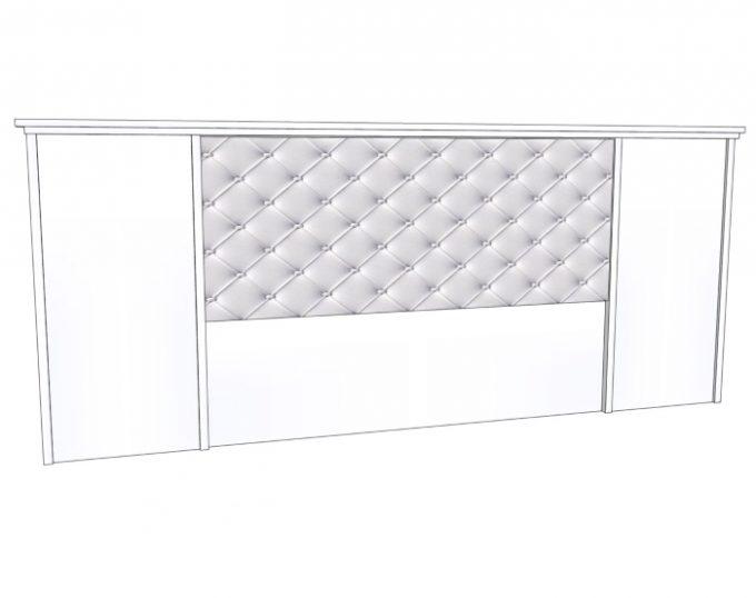 Изголовье для двухспальной кровати 3000*1200мм с мягким элементом  (Венеция)