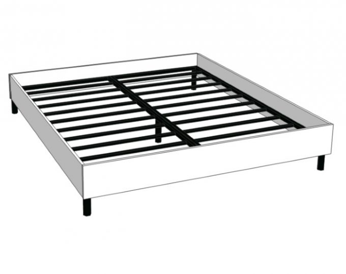 Кровать двухспальная с ортопедическим основанием 1832х2032х355 (спальное место 1800х2000) (Венеция)
