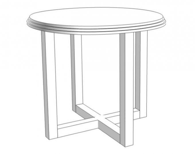 Стол журнальный круглый D=600х520 (Венеция)