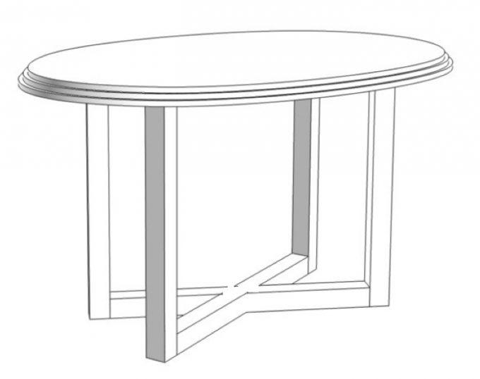 Стол журнальный овальный 800х600х520 (Венеция)