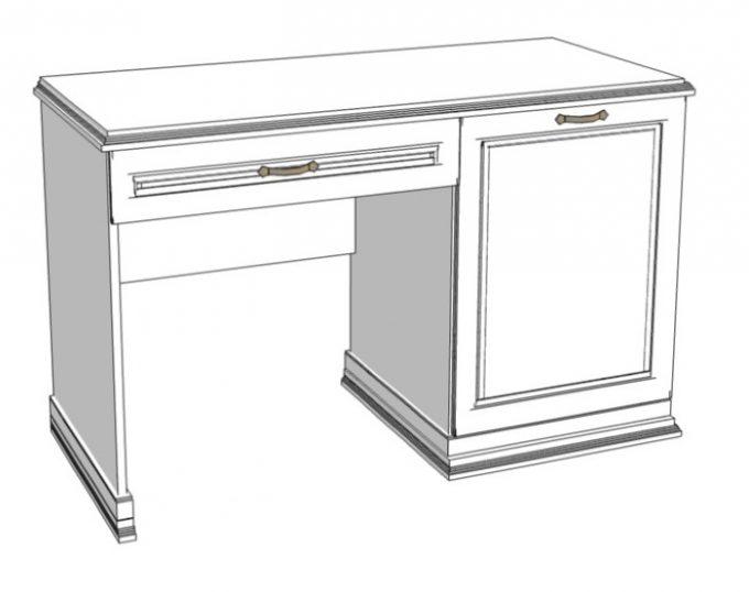 Стол с одной тумбой (с ящиком и нишей под холодильник) 1200х520х750 (Венеция)