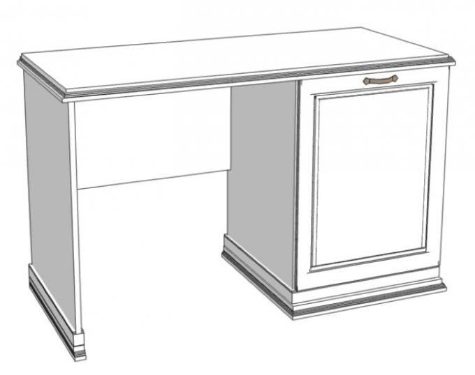 Стол с одной тумбой (с нишей под холодильник) 1200х520х750 (Венеция)