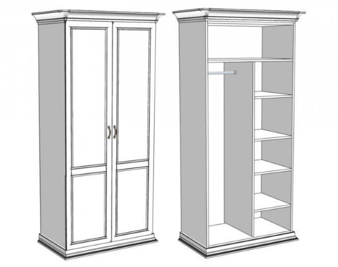 Шкаф комбинированный для одежды 900х520х2000  (Венеция)
