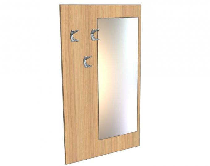 Вешалка настенная с зеркалом 800х1400мм (Верона)