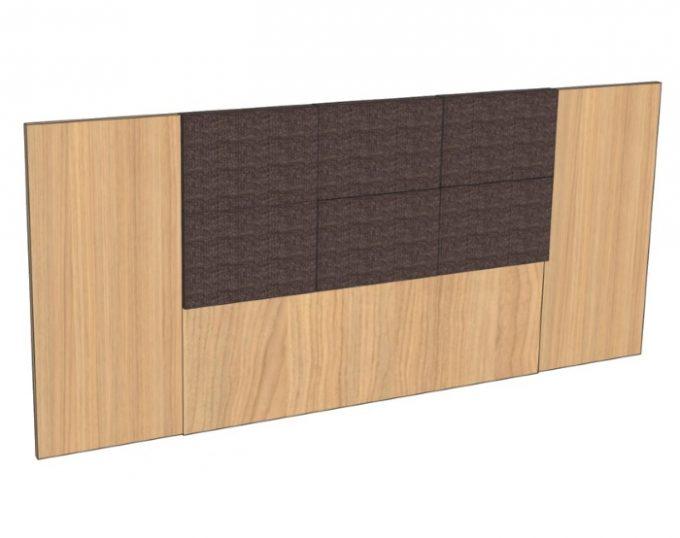 Изголовье для двухспальной кровати 2770*1200 мм с мягким элементом (Верона)