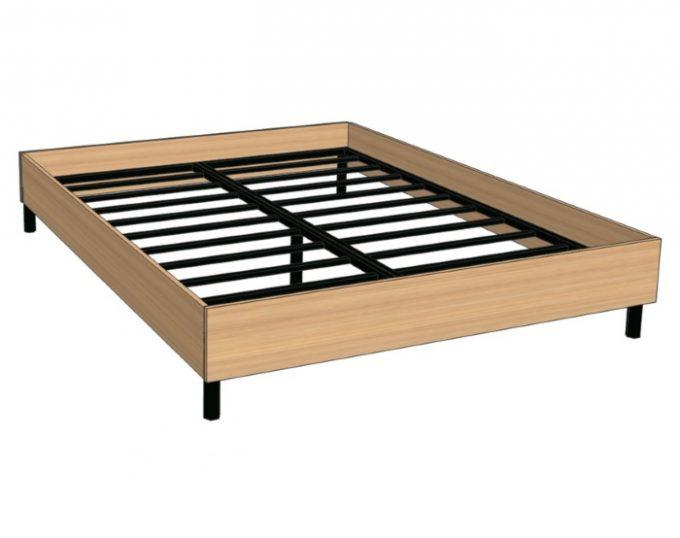 Кровать двухспальная с ортопедическим основанием 1632х2032х355 без матраса (спальное место 1600х2000) (Верона)