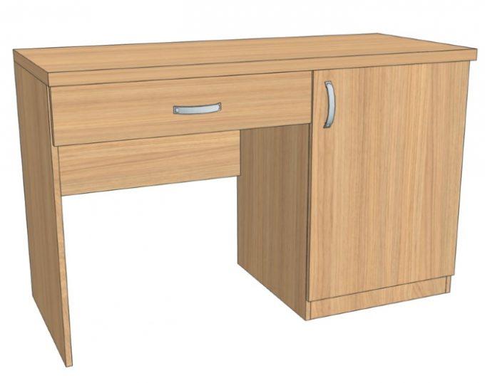 Стол с одной тумбой (с ящиком и нишей под холодильник) 1200х520х750 (Верона)