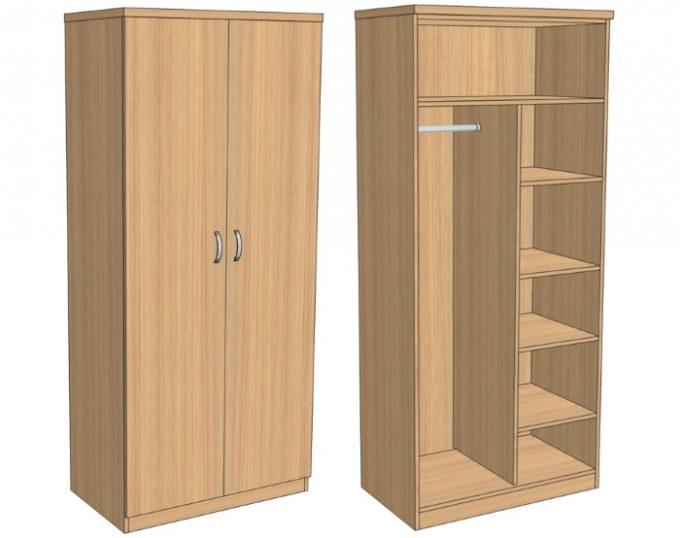 Шкаф комбинированный для одежды 900х520х2000 (Верона)