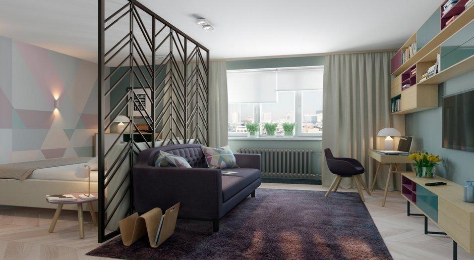 Зонирование гостиной при помощи мебели